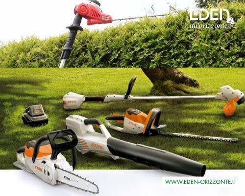 attrezzatura elettrica manutenzione giardini privati e condominiali