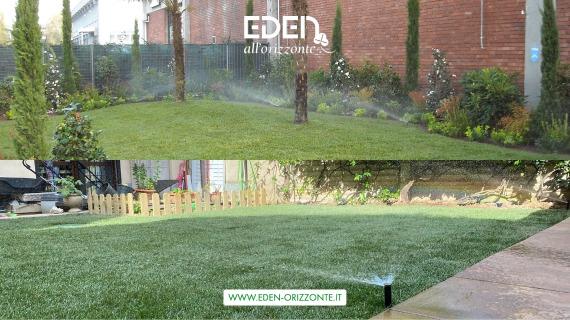 Impianto irrigazione giardino privato e condominiale