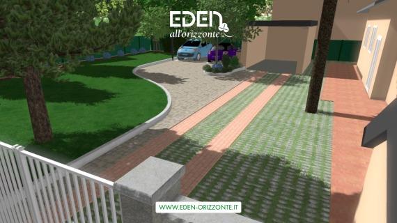 Progetto giardino privato e condominiale 3d