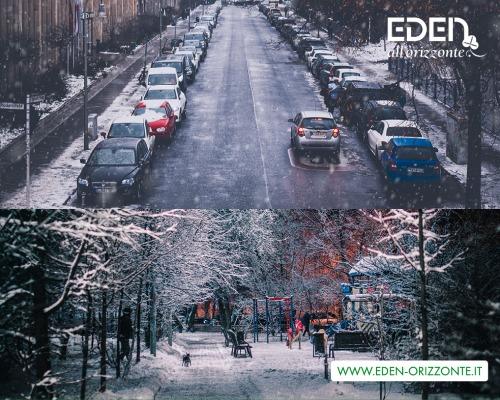 Interventi di spazzaneve in città