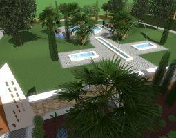 Eden progettazione 3d giardini privati condominio aree verdi